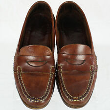 Cole Haan Country Vibram Brown Leather Penny Loafer Slip-On Shoe Sz 10 D M EUC