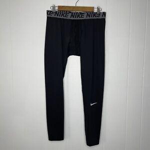Nike Dri Fit Men's Compression Leggings Base Layer Black Size XL NWT