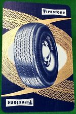 Playing Cards 1 Swap Card - Old Vintage FIRESTONE Car TYRES TIRES Tyre Tire AD 2
