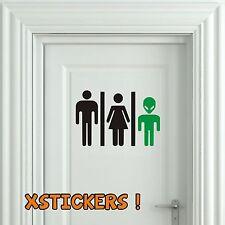 Sticker Vinilo - WC Alien - Bathroom -Toilet -Toilette-Wall Decal-Vinyl-pegatina