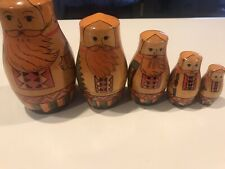 Vintage Russian Nesting Dolls Set Of 5