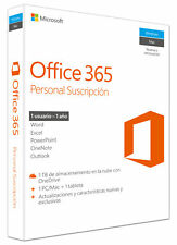 Software Microsoft Office 365 personal 1us 1año