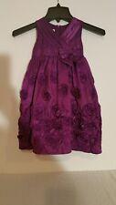 Bonnie Jean Little Girls Purple Satin Rosette Dress-3/3T