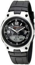 Casio AW80-1A2 Men's Resin Band Black Dial Analog Digital Telememo 30 Watch