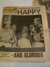 ORIGINAL DAILY MIRROR CORONATION SOUVENIR EDITION JUNE 3rd 1953