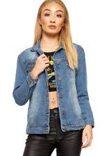 Cappotti e giacche da donna blu con lunghezza ai fianchi, taglia 40