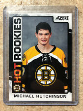 12-13 Panini Hot Rookie RC Score Black Ice Parallel SSP #547 MICHAEL HUTCHINSON