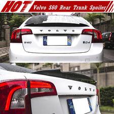 Carbon Fiber For VOLVO S60 Sedan Rear V Style Trunk Spoiler T5 Polestar 2017