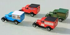 Matchbox diecast Ford Model A vans x 4 (including Promotional models) - boxed