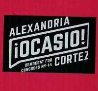 Alexandria Ocasio Cortez AOC bumper sticker campaign decal democrat socialist gr
