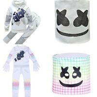 Kid DJ Marshmallow Cosplay Costume Halloween Party Mask + Jumpsuit Fancy Dress