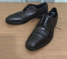 Hugo Boss Mens Brown Leather Dress Shoes Size 8 Made In Italy