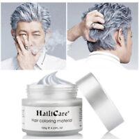 Silver Grey Color Hair Wax Men Women Dye Gray Mud styling Maker Sales US