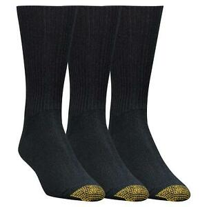 Gold Toe Men's Fluffies Casual Sock, 3-Pack, Black, Shoe Size, Black, Size 10.0