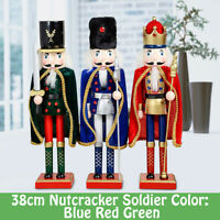 15'' Home Decor Soldier Handcraft Wooden Christmas Soldiers Nutcracker Xmas Doll