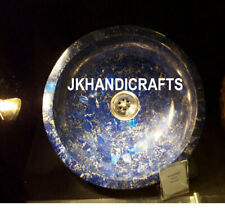 "15"" Blue Marble Counter-top Washbasin Lapis Lazuli Random Sink Outdoor Decor"
