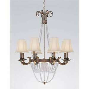 Classic Lighting Grace Wrought Iron Chandelier, Copper Bronze - 81028CPB