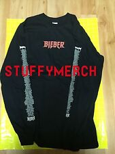 JUSTIN BIEBER VFILES OFFICIAL PURPOSE TOUR L/S T SHIRT SMALL NY POP-UP RARE OOP