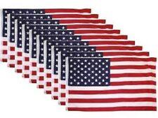 10 PACK - 3x5 Ft USA American Nylon Printed Flag Stars Grommets Flag