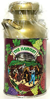 "Vintage Nobel Hall Metal Milk Can Tin The Harvest New Old Stock 7"" H"