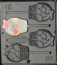 FREE SHIP NEW Easter EGG BASKET Chocolate Candy Fondant Plaster Clay Lolly Mold
