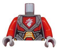 Lego Torso Oberkörper Drachenkopf rote Arme hellgraue Hände 973pb2720c01 Neu