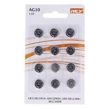 Pack de 12 Pilas Tipo Botón Litio en Blister gran Calidad Modelo AG10 1.5V b19