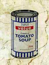 Banksy Tesco Soup Wall A3 Sign Aluminium Metal Large