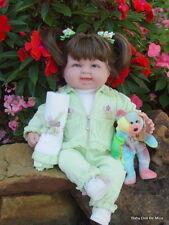 "New 18 "" Berenguer Baby Doll ~ makeover ~ Brunette in Mint Green ~ Extras"