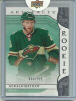 2019-20 Artifacts Rookie Redemption Red195 Gerald Mayhew 869/999 Minnesota Wild