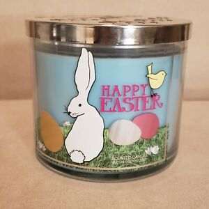 Sugared Candy Bunny Bath & Body Works 3-Wick Candle HAPPY EASTER Vanilla Bean