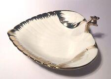 Leonardo White & Gold Scalloped Metal Peacock Trinket Dish - LP28402 Design A