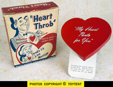 mechanical Valentine 1958 beating Heart Throb wind-up novelty boxed See Movie!