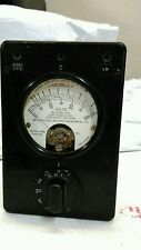 Weston Electric Decibels 6 Mill.500 Ohms Model 695 Navy Depart. Bureau Of Ships