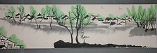 Excellent Chinese Scroll Painting By Wu Guanzhong  SJ-003 吴冠中
