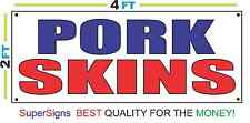 2x4 PORK SKINS Banner Sign Red White & Blue NEW Discount Size & Price