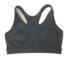 Tek Gear Dry Tek Workout Sports Bra size M Medium Support Kohls Gray