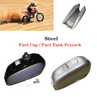 Motorcycle Bike Cafe Racer Steel Fuel Gas Tank+Cap Switch