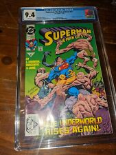 Superman: The Man of Steel #17 CGC 9.4 White Pages Doomsday Cameo