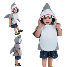 HOT Child Shark Costume Jumpsuit Jaws Girls Boys Fancy Dress Fish Kids Outfit CA