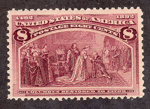 US # 236 (1892) 8c-MNH - Grade: FVF-Columbian (Columbus Restored to Favor)