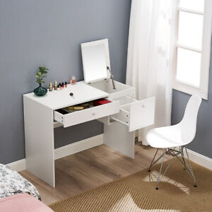 Computer Desk Home Office PC Table Stool Vanity Dressing Table 2 in 1 NEW;