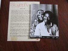 PEACHES & HERB Press kit w 8x10 photo a