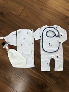 BNWT The Little White Company  London Bear Gift Set Size 3-6 Months RRP £65 (2)