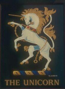 Metal Sign Pub 340074 the unicorn inn marden kent A3