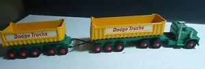 MATCHBOX  DODGE TRUCKS Dump Truck and Dump Trailer King Size K-10