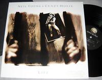NEIL YOUNG & CRAZY HORSE Life VINYL LP promo record 1st US ed.1987 album EX / NM