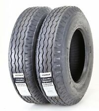 2 New Zeemax Heavy Duty Highway Trailer Tires 8-14.5 14PR LR G
