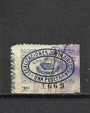 767-SELLO FISCAL COLEGIO NOTARIAL VALENCIA JUNTA DIRECTIVA 1 PESETA.DIFICIL.1900