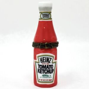 Vintage 1998 Trinket Pill Box Heinz Ketchup Bottle Midwest Cannon Falls